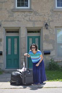 photograph of blogger Nadine Compton in Guelph, Ontario, Canada