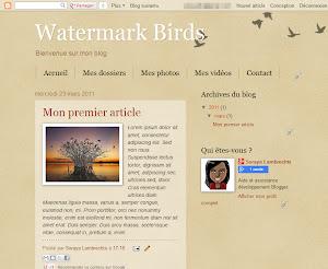 Watermark Birds Theme