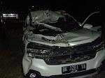 Suzuki Ertiga Hantam Truk Tronton di Jalan Tol, 3 Warga Batubara Luka-luka