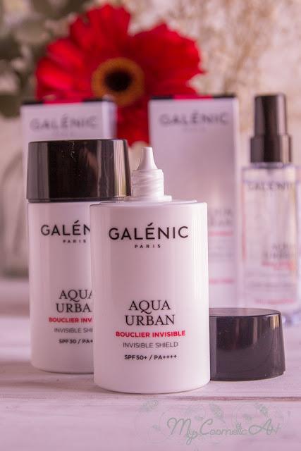 Colección Aqua Urban de Galenic, protección urbana contra la contaminación y la radiación solar.