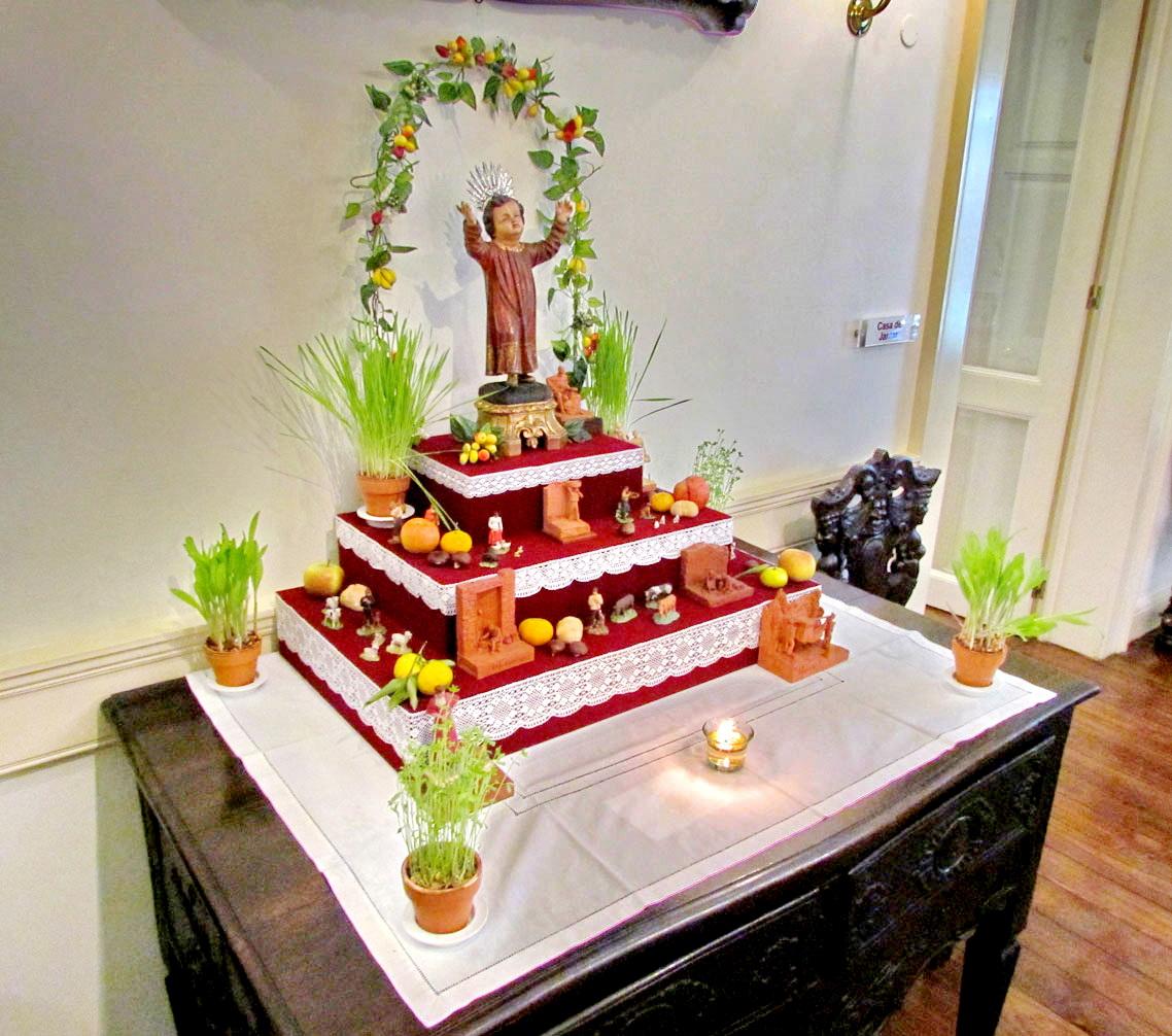 a different traditional christmas crib in Casa-Museu Frederico de Freitas