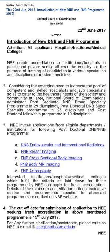 NBE introduces fellowships for Radiology Subspecialization
