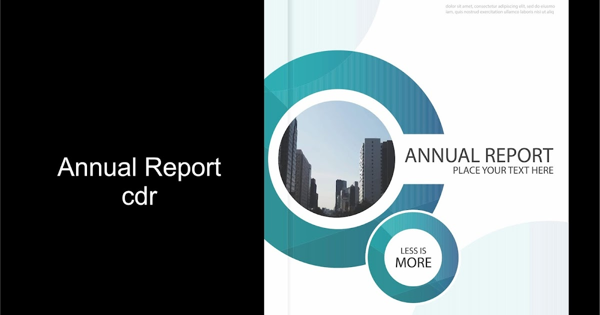 Free Vector Annual Report - Guru Corel