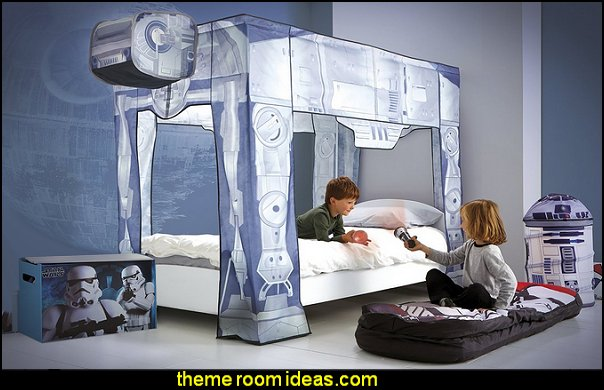 Star Wars Bed Canopy Star Wars Bedrooms - Star Wars Furniture - Star Wars wall murals - Star Wars wall decals - Star Wars bed - space ships theme beds - Star Wars Bedroom - Star Wars Decor - Sci Fi theme bedrooms - alien theme bedrooms - Stormtrooper Star Wars Theme Beds - Star Wars bedroom decor