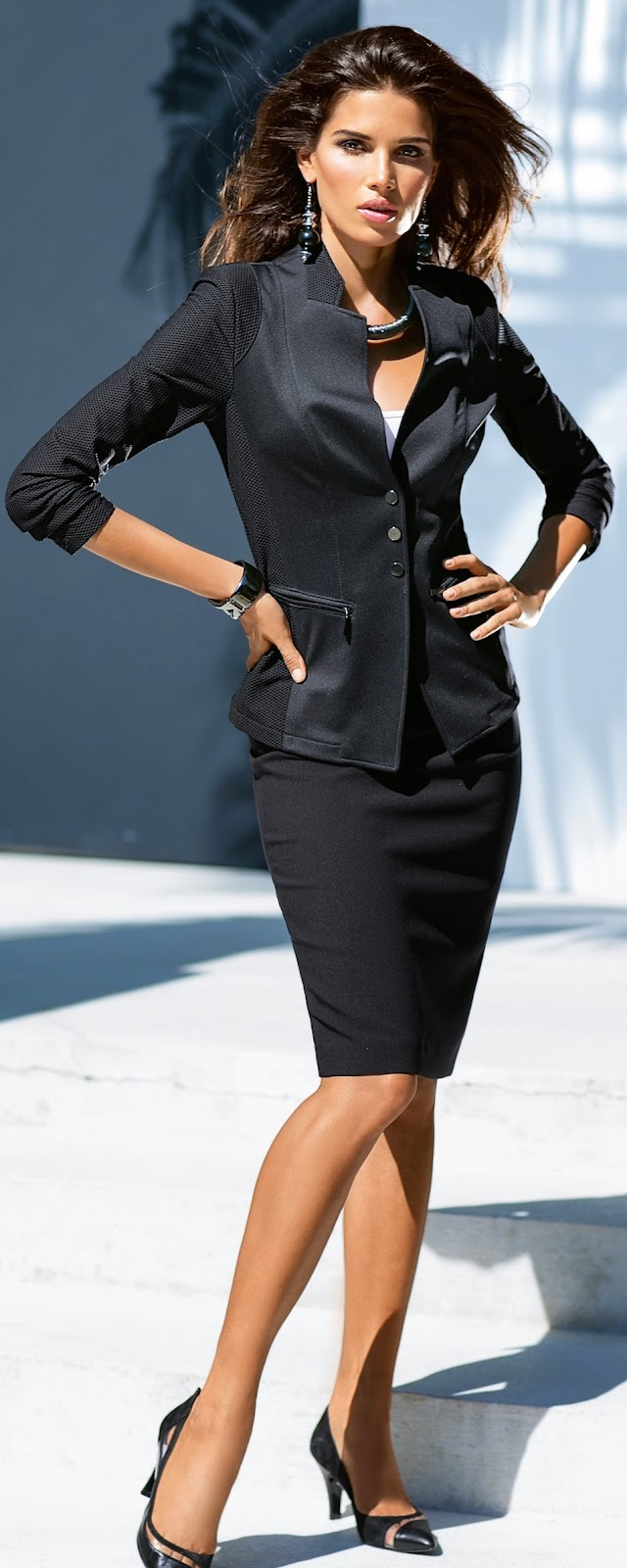 MADELEINE Black Skirt and Jacket