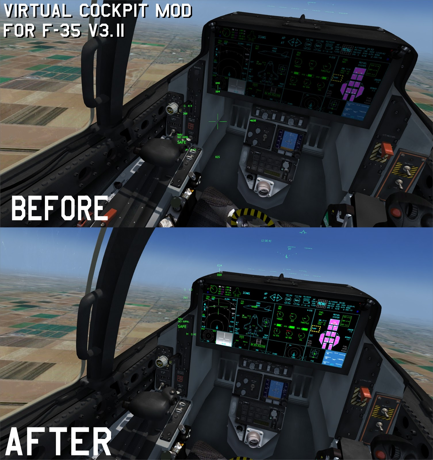 IndiaFoxtEcho Visual Simulations: F-35 V3 11 VIRTUAL COCKPIT