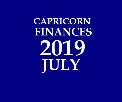 CAPRICORN - MAKARA RASI: 2019 JULY CAPRICORN DAILY HOROSCOPE