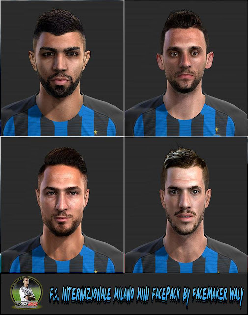 F.c internazionale milano Mini Facepack By FacemakerWaly