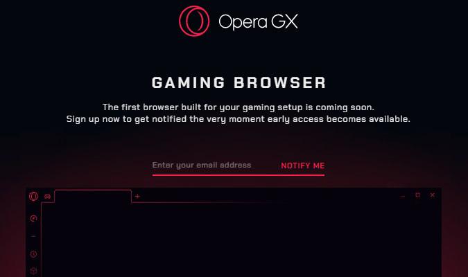 Tampilan awal Browser Gaming pertama di dunia