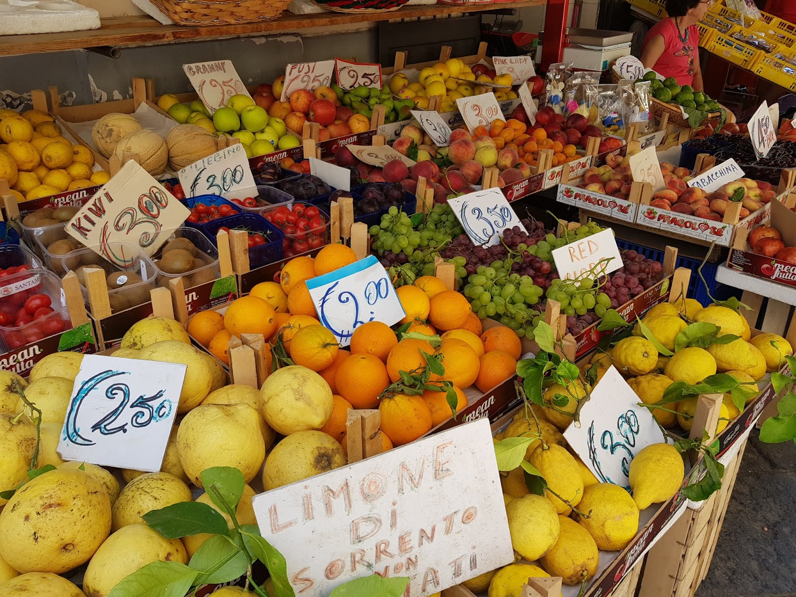 sorrento italy fruit shopping visit tourism holiday