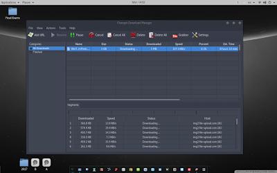 كيفية تثبيت برنامج للتحكم بالتنزيلات على الكالي لينكس