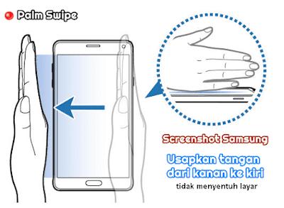cara screenshot samsung menggunakan sapuan layar atau palm swipe