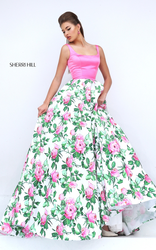 Sexy Sherri Hill Floral Printed Prom Dresses  Beauty ...
