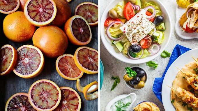 Blood Oranges and the Greek Food