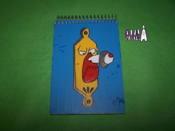 Dibujo De Hada Para La Portada De Una Libreta De Una Ni A: Tapas Cuadernos