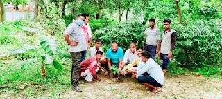 राधा कृष्ण मंदिर पर चलाया गया स्वच्छता अभियान   #NayaSaberaNetwork