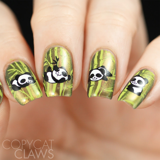 Panda Nail Stamping