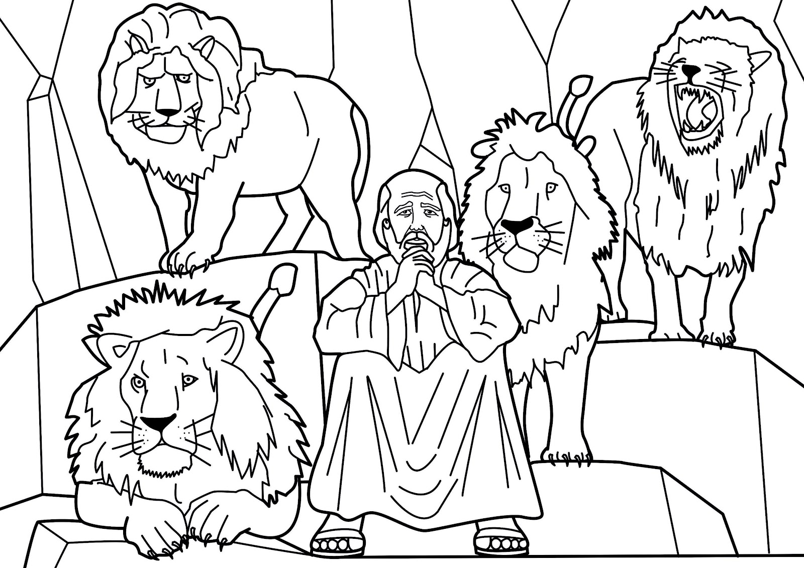 Dare daniel and the lions story from holy bible and images for Bible story color pages