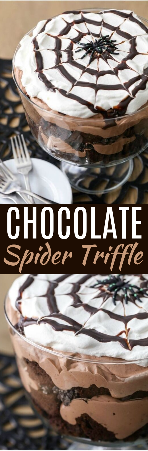 Chocolate Spider Trifle #chocolate #desserts