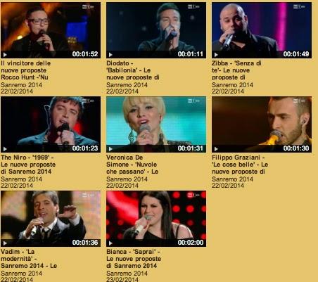 I finalisti Nuove proposte, la quarta serata su rai.tv, as seen on viaoptimae.com