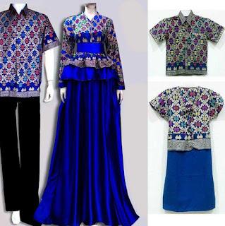 model baju batik couple gamis modern