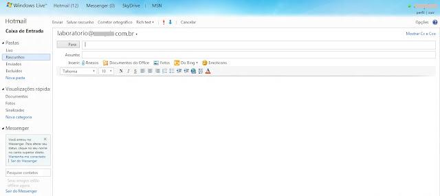 Corretor ortográfico Hotmail