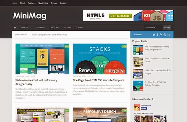 MiniMag template blogger responsive