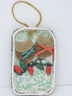 Front of Sleeping Owls Ornament by BayMoonDesign