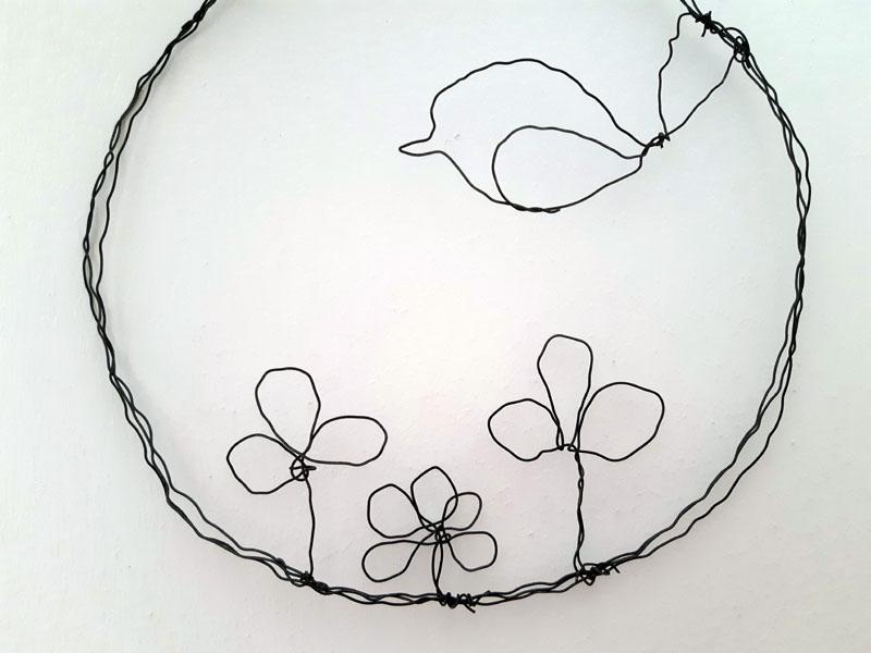 Ghirlanda con il fil di ferro