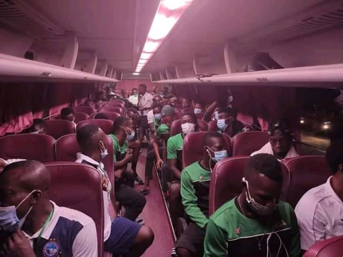 This is why we are Africans, Rahimo FC and Enyimba left the Stadium in same Bus even after a painful defeat for the Burkina Faso side