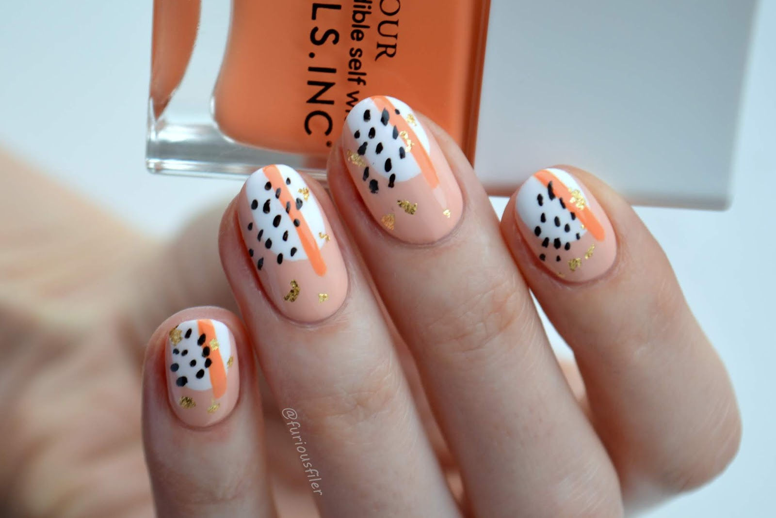abstract nude nails inc kiss my peach furious filer