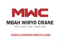 Lowongan Kerja Solo Staff Administrasi Lulusan SMA di Mbah Wiro Crane