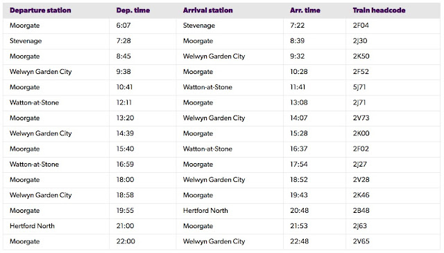 Image: GNR schedule