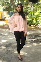 Rakul Preet Singh in lovely Pink Crop Top and Black Trousers at Jaya Janaki Nayaka success meet 072.JPG
