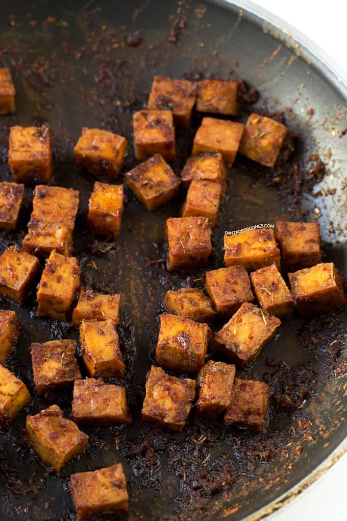Tofu for Caesar Salad