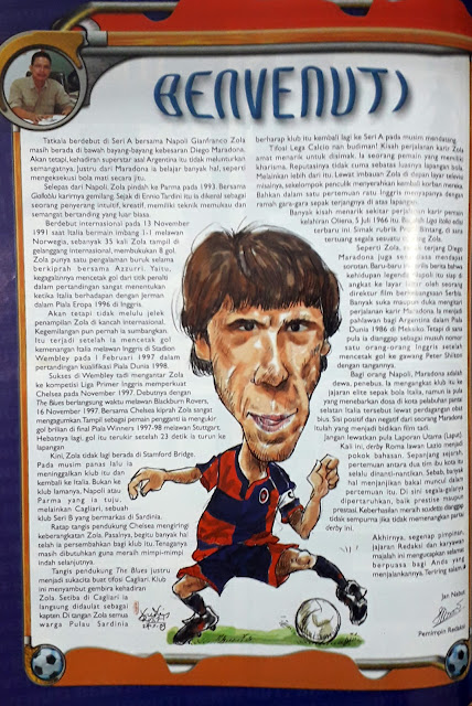 GIANFRANCO ZOLA CARICATURE