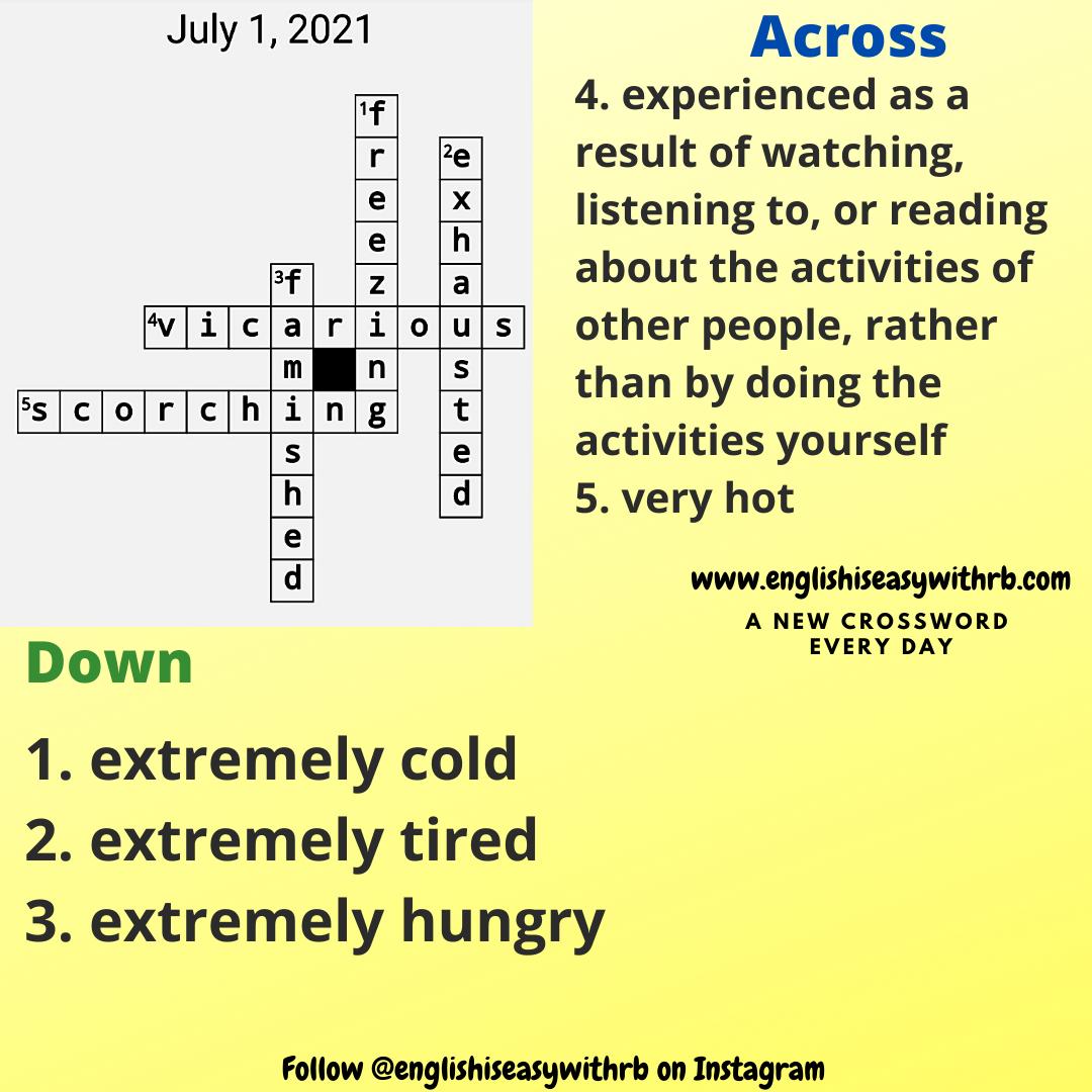 crossword englishiseasywithrb