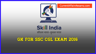 SSC CGL Exam 2016  GK