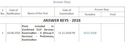 group 2 answerkey 2018 tnpsc website www.tnpsc.gov.in