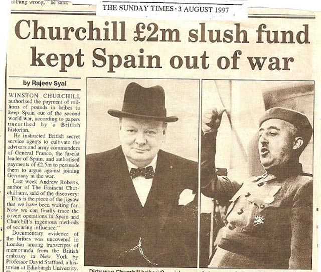 Churchill and Franco had secret dealings throughout World War II worldwartwo.filminspector.com