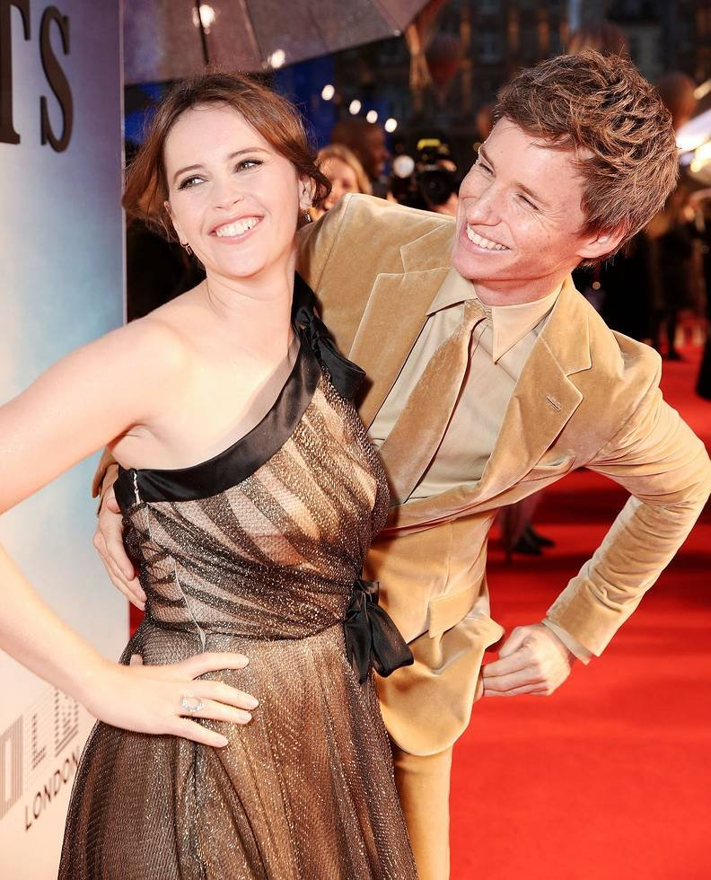 Felicity Jones and Eddie Redmayne at the LFF premiere of The Aeronauts
