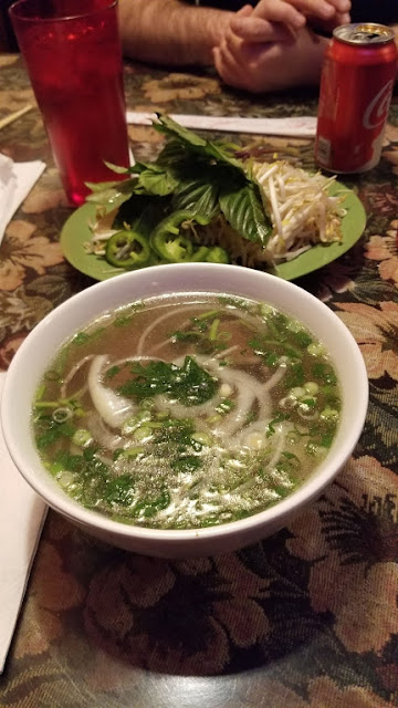 Pho (small bowl!) at Que Huong, Madison Heights, MI
