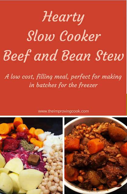 Slow Cooker Beef and Bean Stew- image for Pinterest