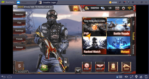 Hình ảnh giao diện của game Crossfire Legends
