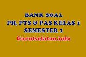 Bank Soal PH, PTS, PAS Kelas 1 Semester 1 Lengkap