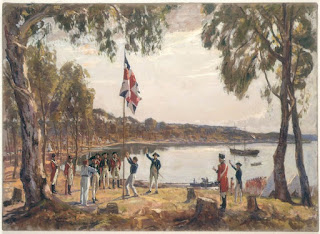 Founding of Australia at Sydney in 1788 by Algernon Talmage