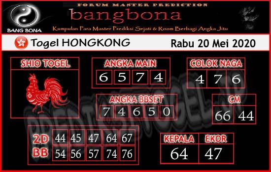 Prediksi Togel Hongkong Rabu 20 Mei 2020 - Bang Bona