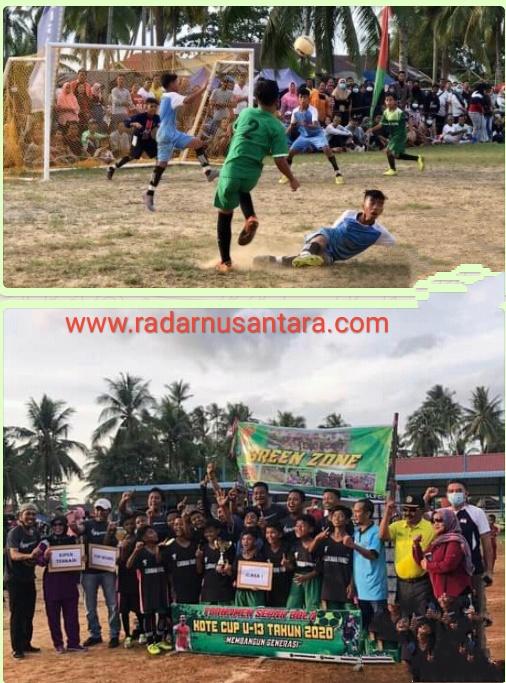 Unggul 5 - 1 Tim Green Zone Kelurahan Sungai Lumpur Menang Dari Tim Langkap Muda Di Final Turnamen U 13 Kote Cup