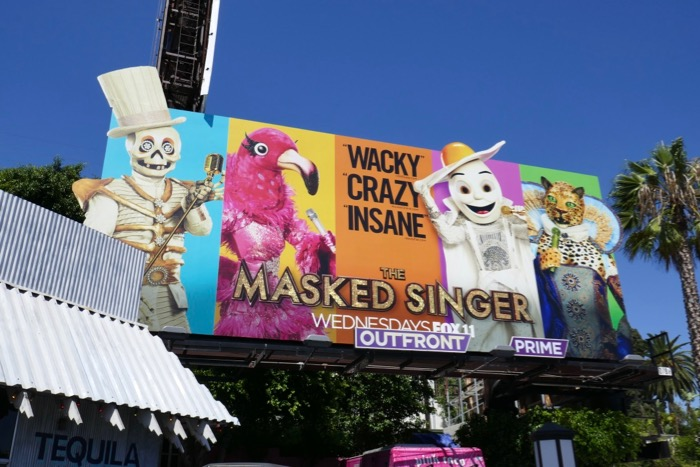 Masked Singer season 2 eye-catcher logo billboard