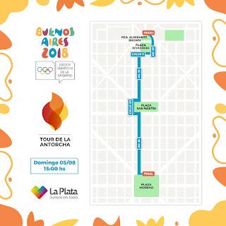 El Tour de la Antorcha Olímpica iniciará su recorrido en el país por la traza fundacional de La Plata